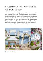 13 creative wedding arch ideas for you to choose.pdf