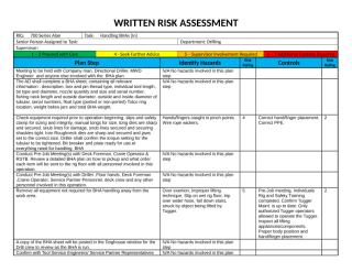 WRITTEN RISK ASSESSMENT Handling BHAs (In) Alan rev 1.docx