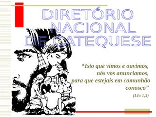 diretório nacional de catequese (apresentação).ppt